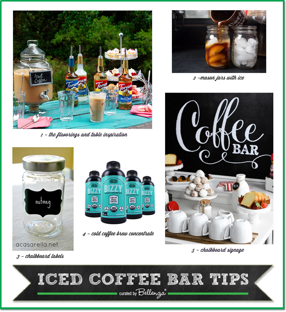 How to set up a iced coffee bar for sumemr