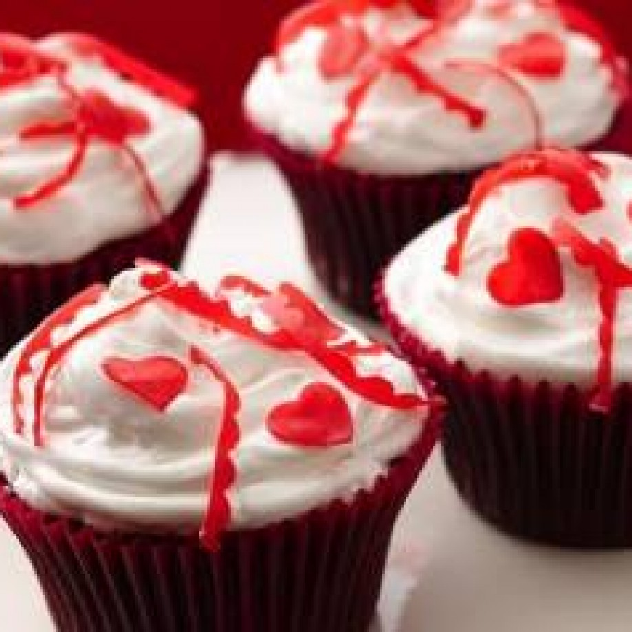 Gluten-Free Valentine Confetti Cupcakes recipe from Betty Crocker