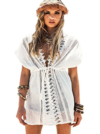 Lace Crochet Cover Up on Amazon.