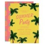 1 - Palm tree summer invitation