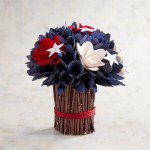7 - Patriotic Curl Flowers Centerpiece