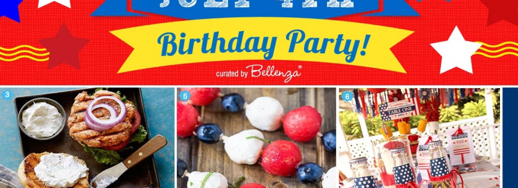 Simple July 4 Birthday Party ideas