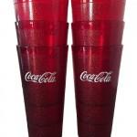 2 - Coca-Cola Red Plastic Tumblers