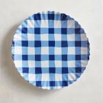 6 - Blue Gingham Dinner Plate