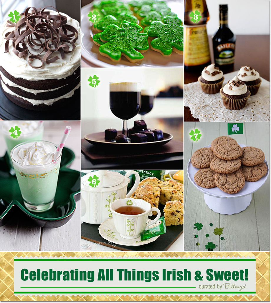 Irish sweets for an afternoon of coffee and tea for St. Patrick's Day