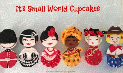 """It's a Small World"" Cupcakes by Make Me My Cake"