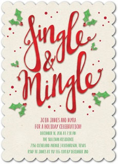 Jingle mingle invitation via Tiny Prints