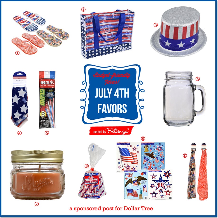 Budget-friendly + Practical July 4th Party Favors