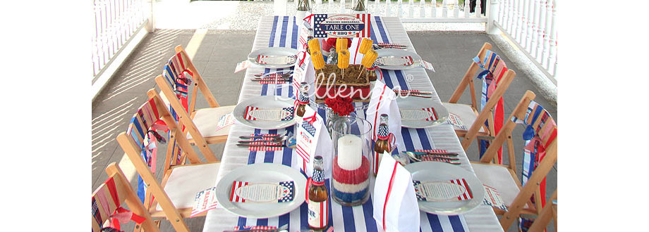 July 4th BBQ theme