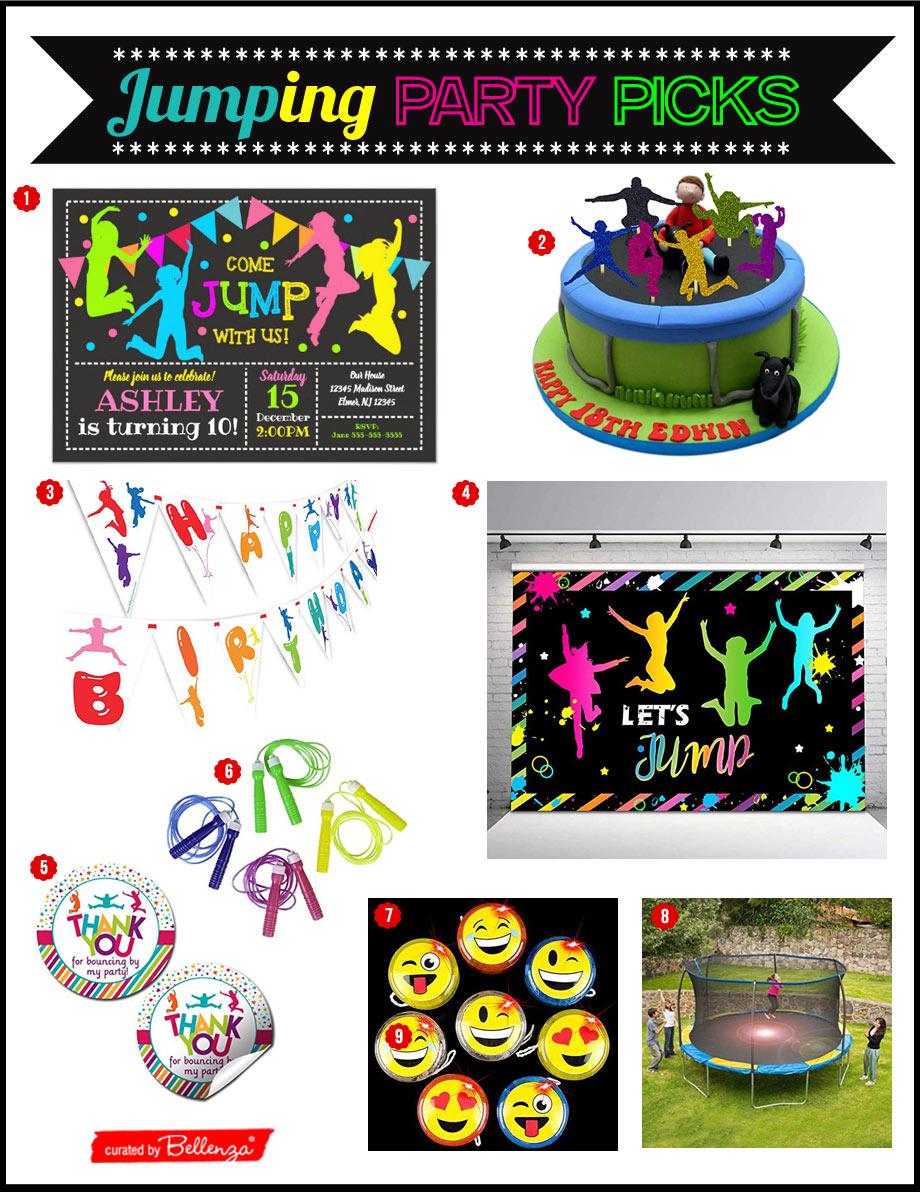 JUMP THEMED BIRTHDAY PARTY IDEAS