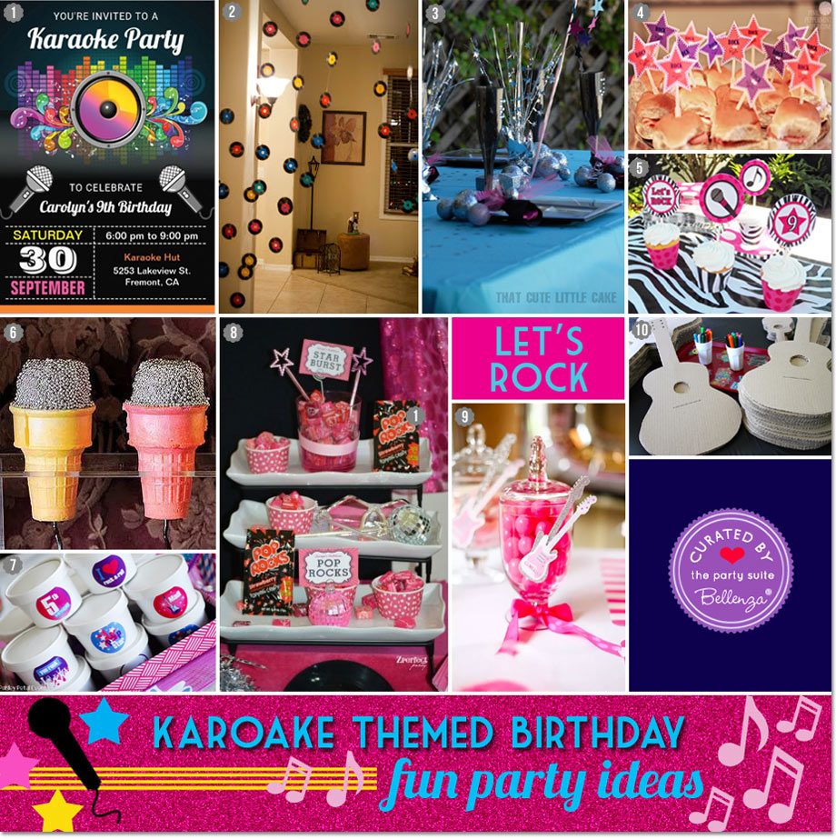 Inspiration for Karaoke Party Decorations, Goodies, and Favors for Pre-teen | Bellenza Party Blog