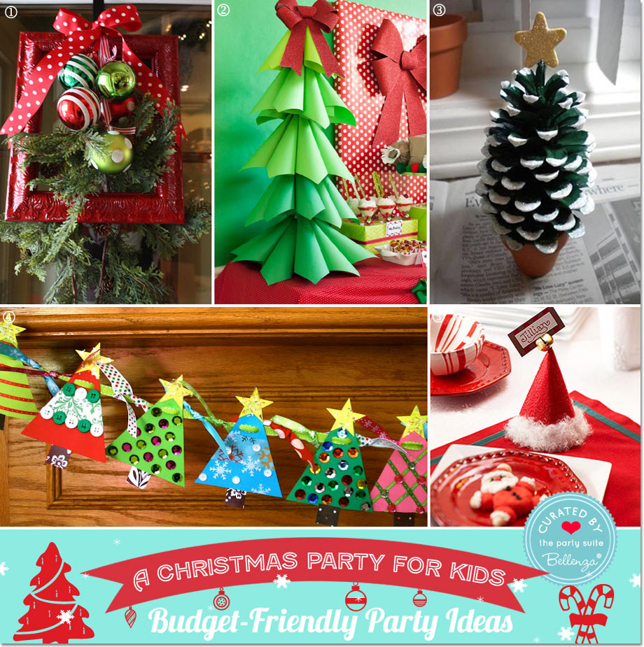budget friendly kids christmas decor party guide featured by bellenza - Christmas Party Decorations On A Budget