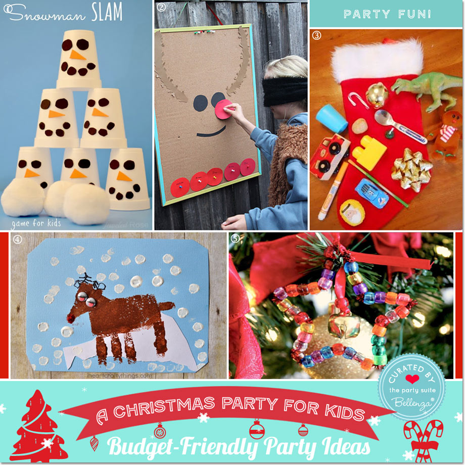 Budget-friendly Kids Christmas Games // Party Guide featured by Bellenza