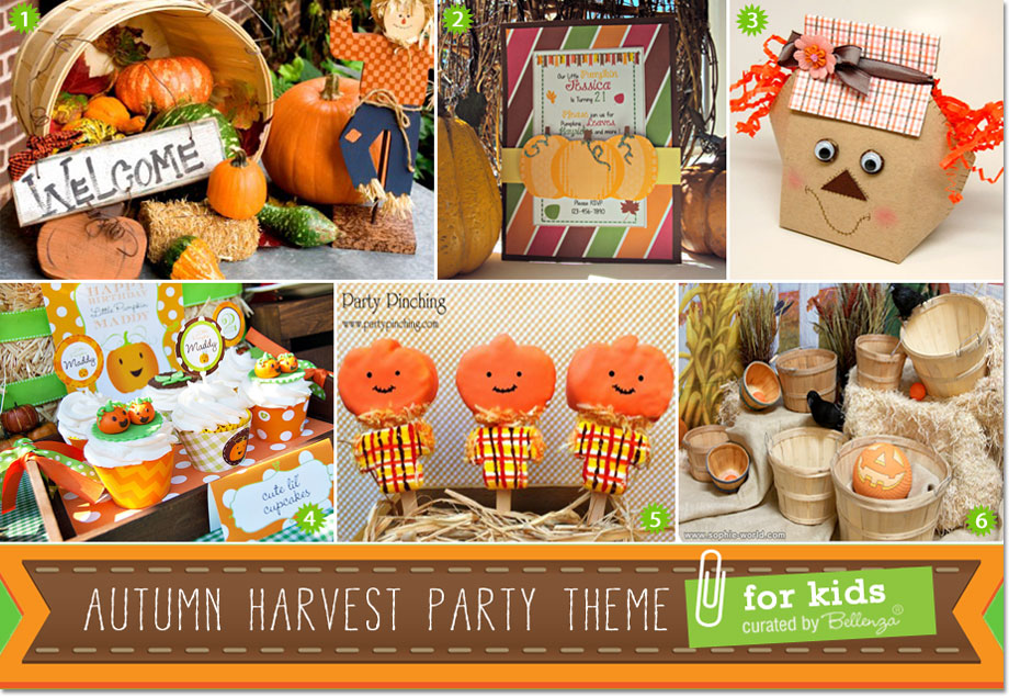 Creative ideas for an autumn harvest birthday party for kids filmwisefo