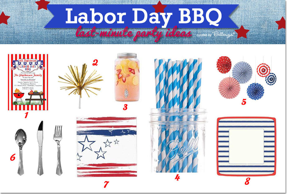 Labor Day BBQ Party Invitations and Supplies
