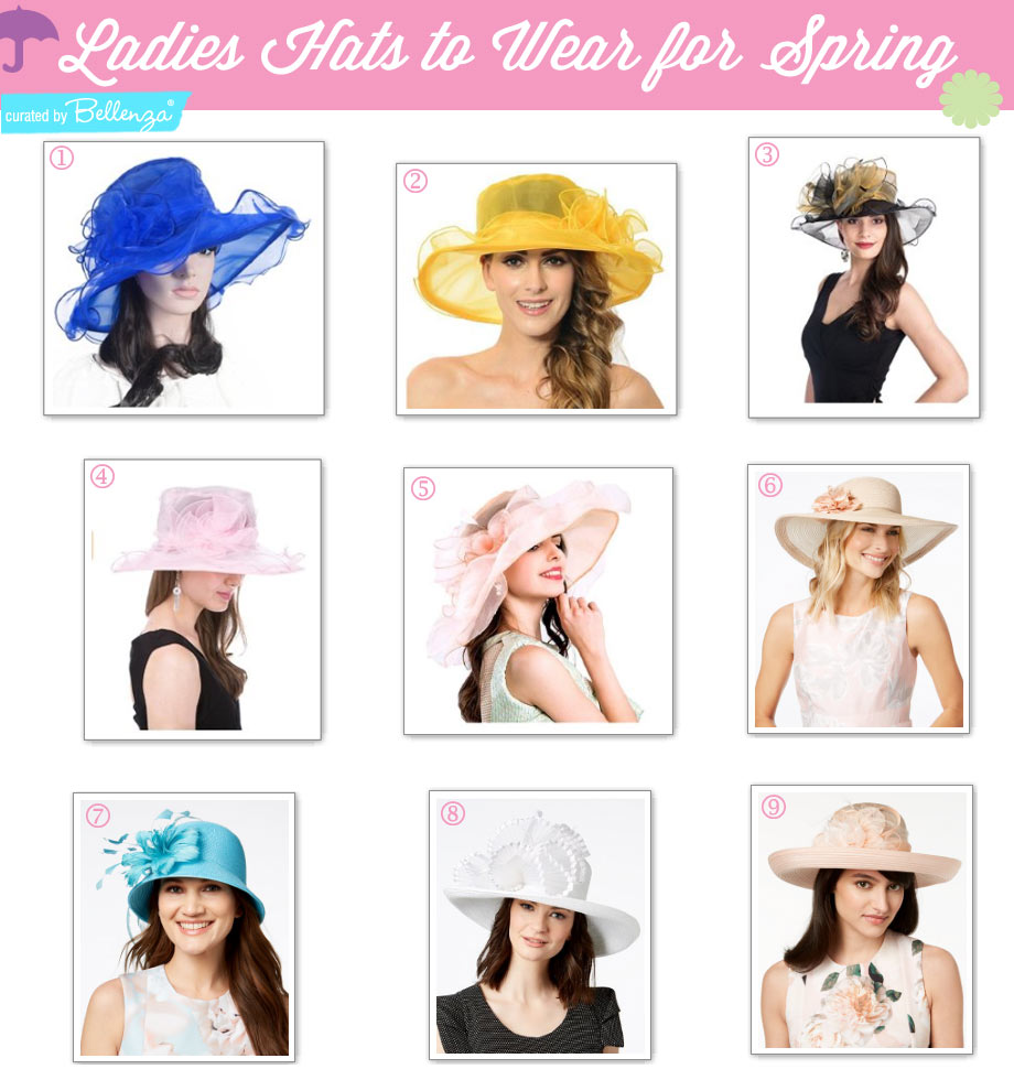 Ladies hat to wear at a spring tea party, Kentucky Derby, Easter luncheon, or Sunday church.