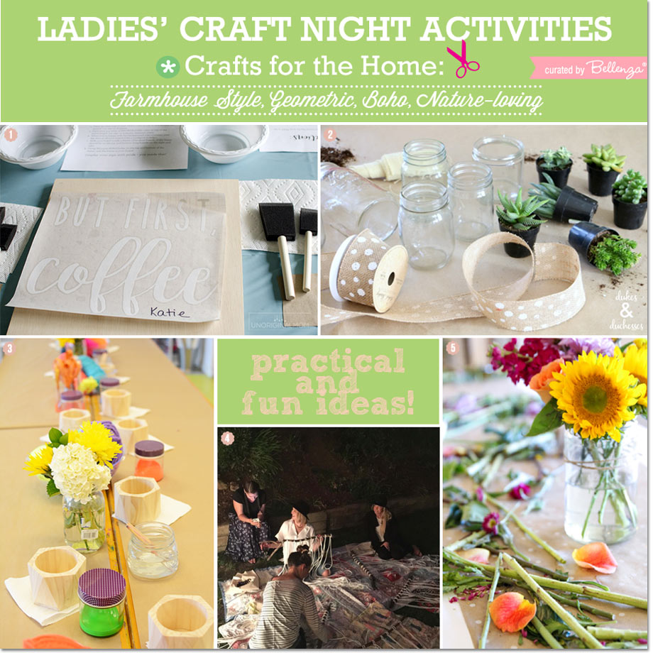 Ladies Crafting Night Farmhouse Projects