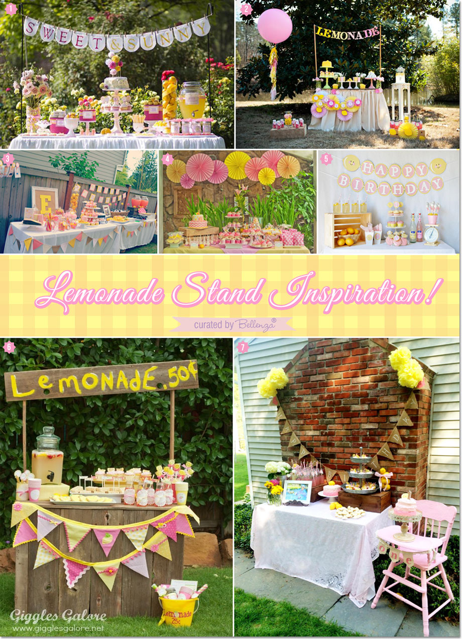 Beautiful Lemonade-themed Dessert Tables | as featured on the Party Suite at Bellenza. #lemonthemedparty #lemonadedesserttables