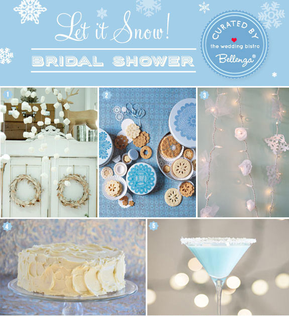 Blue and white let it snow winter birthday theme