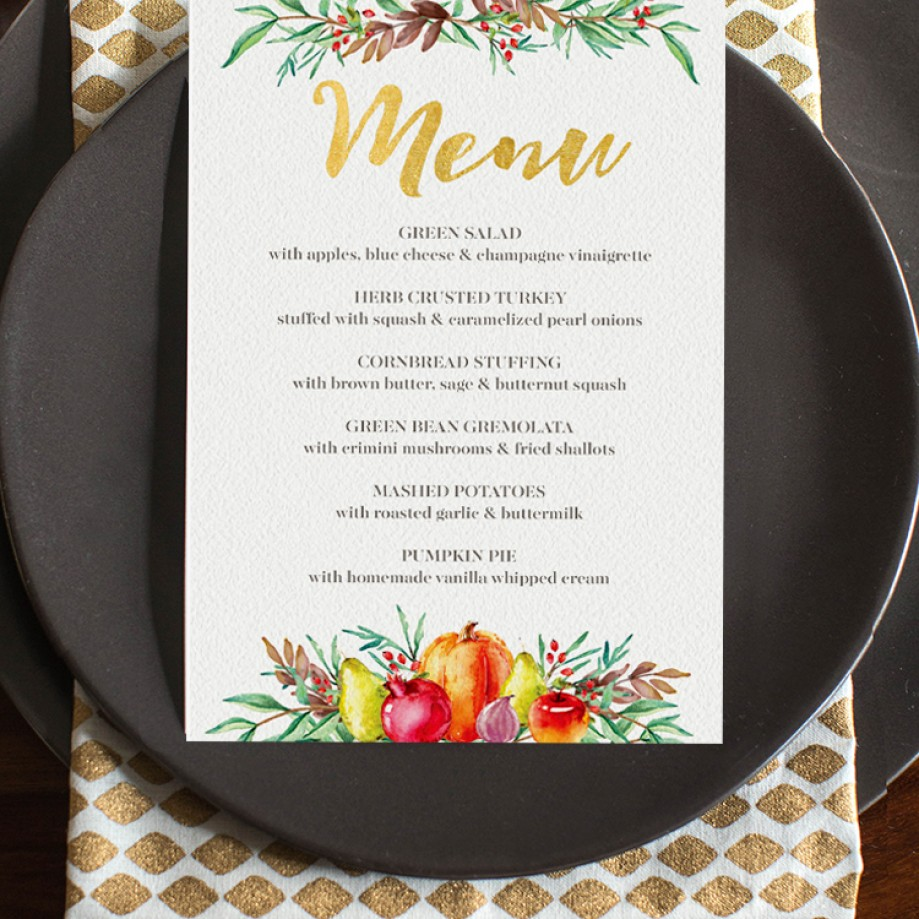 Thanksgiving Printables for Hosting a Stylish Celebration!