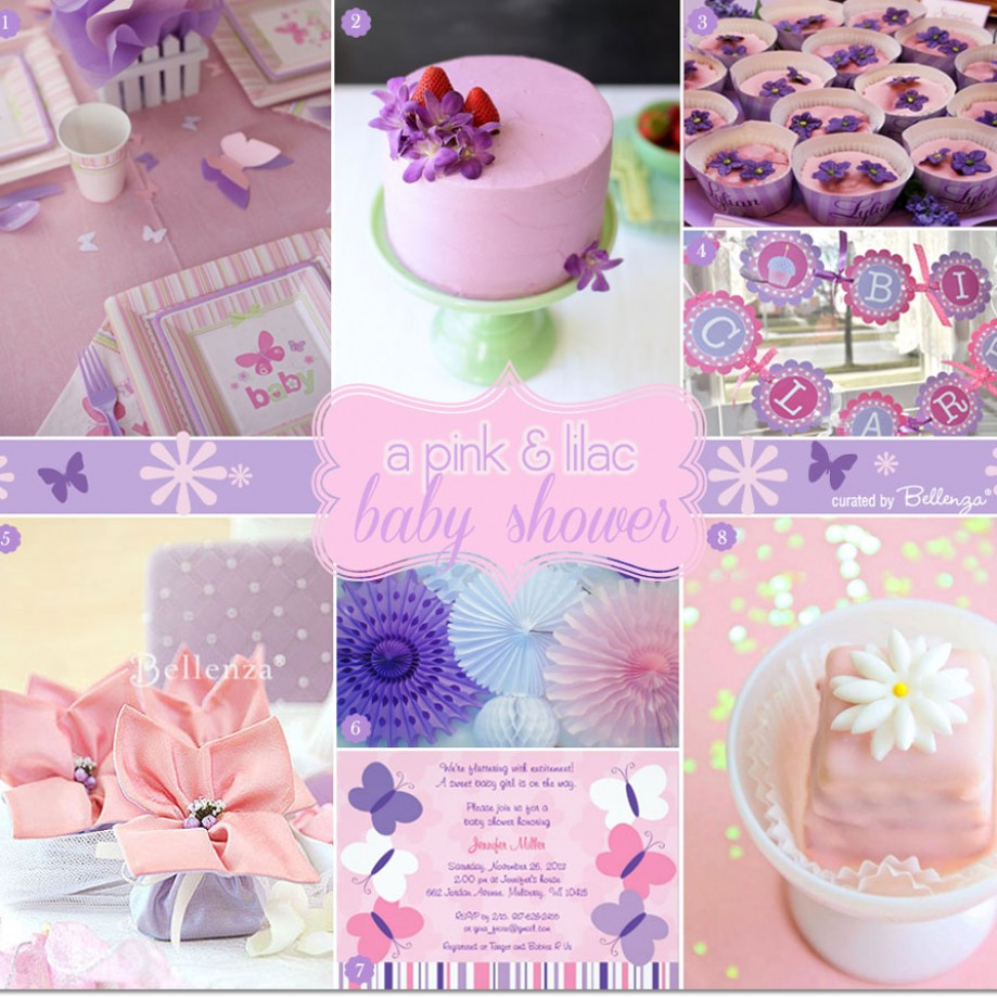 Butterflies and flowers bring inspiration for a pink and lilac baby shower!