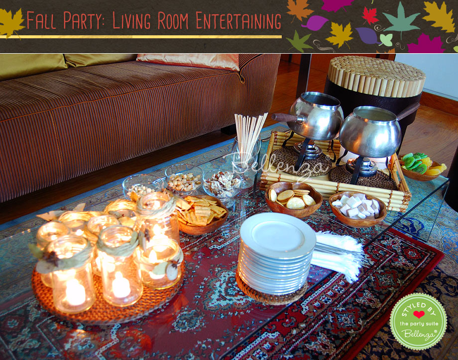 Casual Fall Party in Your Living Room // Styled Shoot by Bellenza