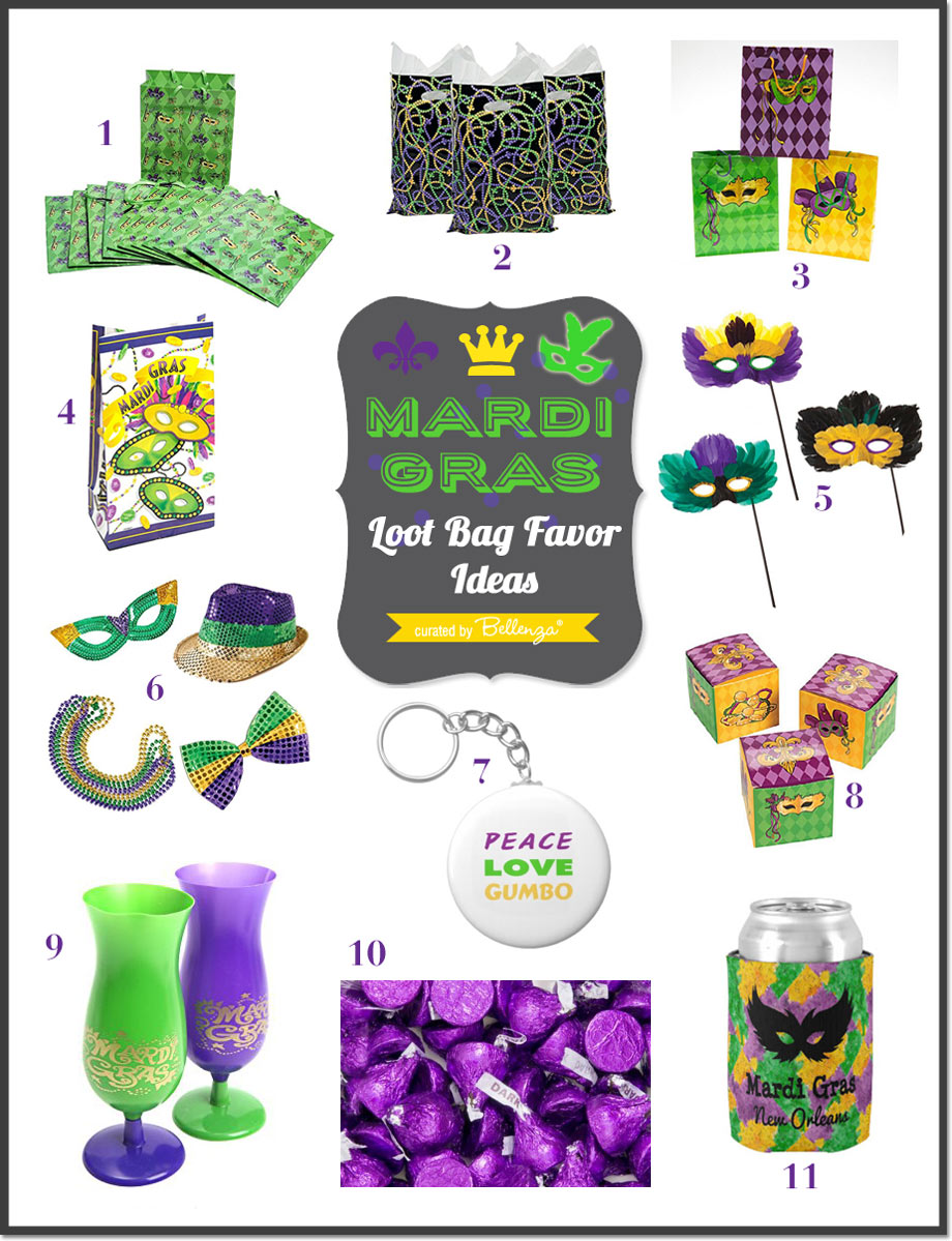 Mardi Gras Loot Bag Ideas for Adults from Koozies to Candy