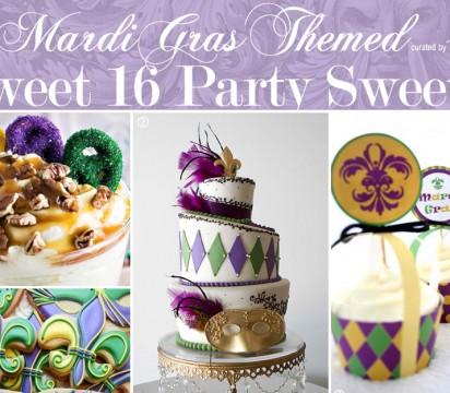 How to Plan a Sweet 16 Mardi Gras Theme