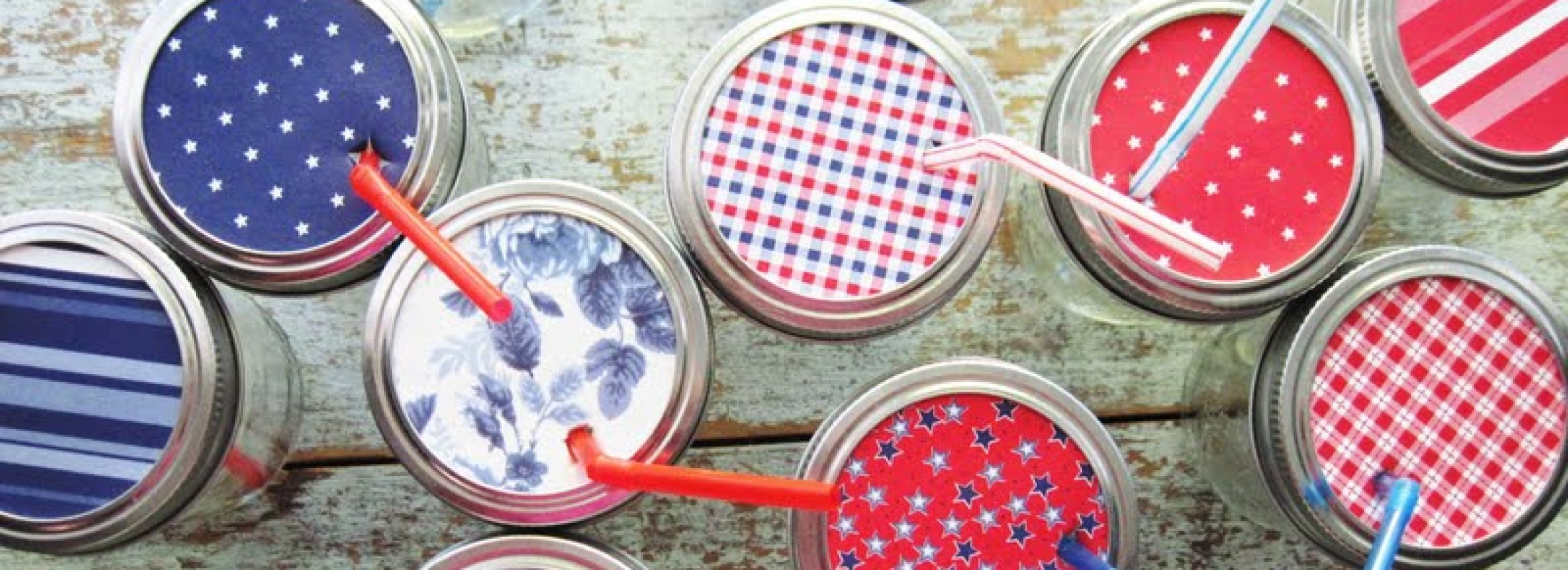 Mason jar project for July 4th. Photo by Two Shades of Pink.
