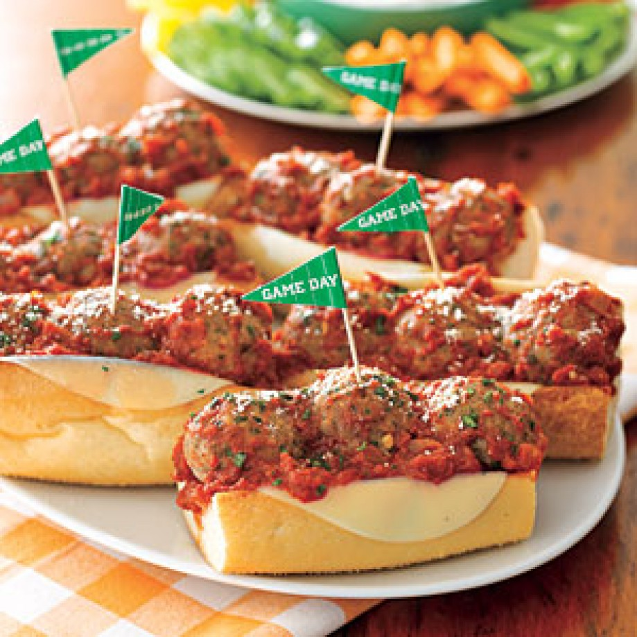 Meatball sandwiches. Photo credit My Recipes
