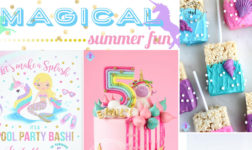 Pool Party Magic with a Mermaid and Unicorn Theme