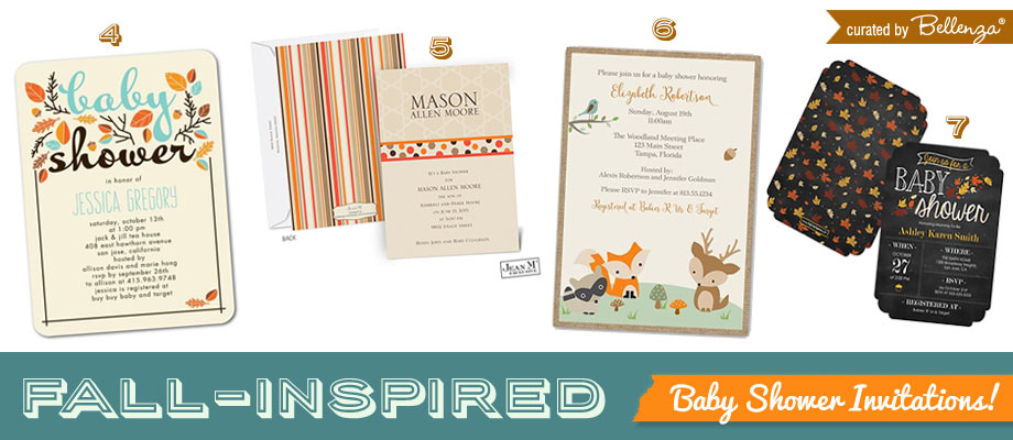 Modern Woodland Baby Shower Invitations