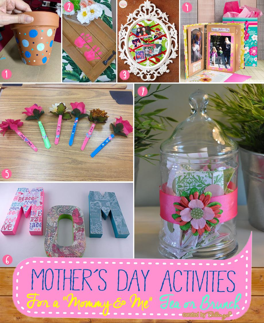 Mommy and me tea party activities with crafting