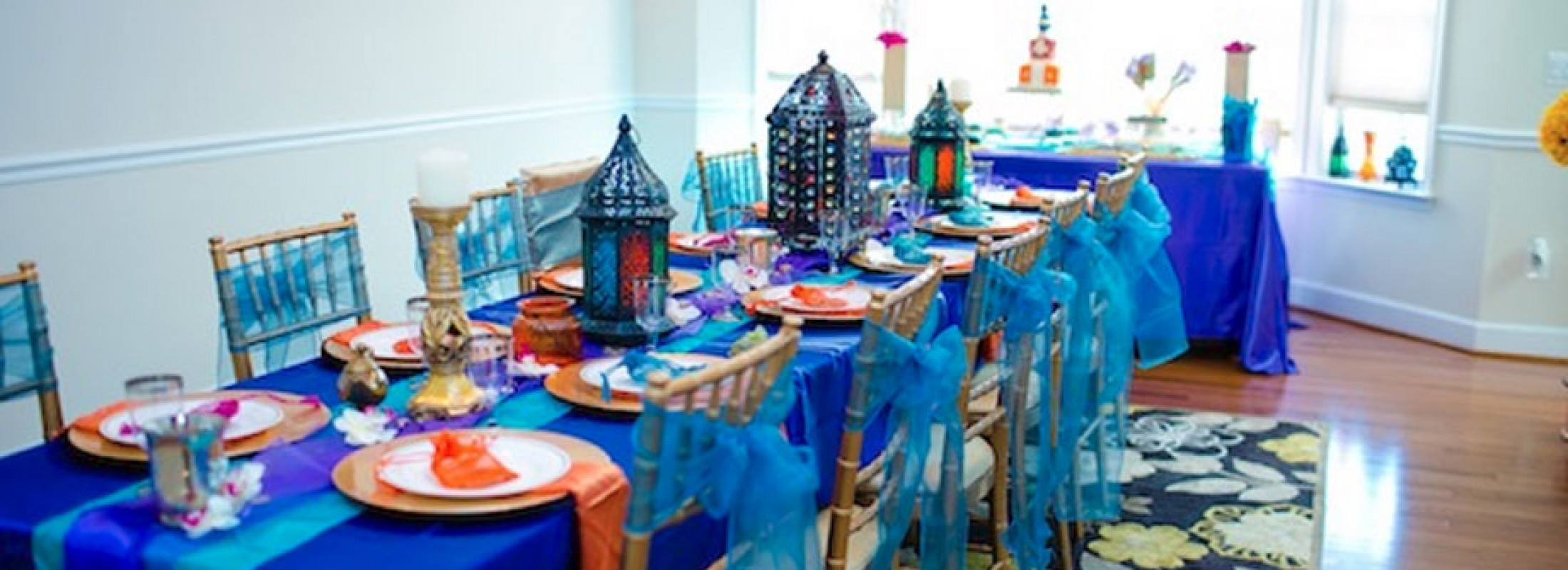 Birthday table decorations boy - Blue Moroccan Baby Shower
