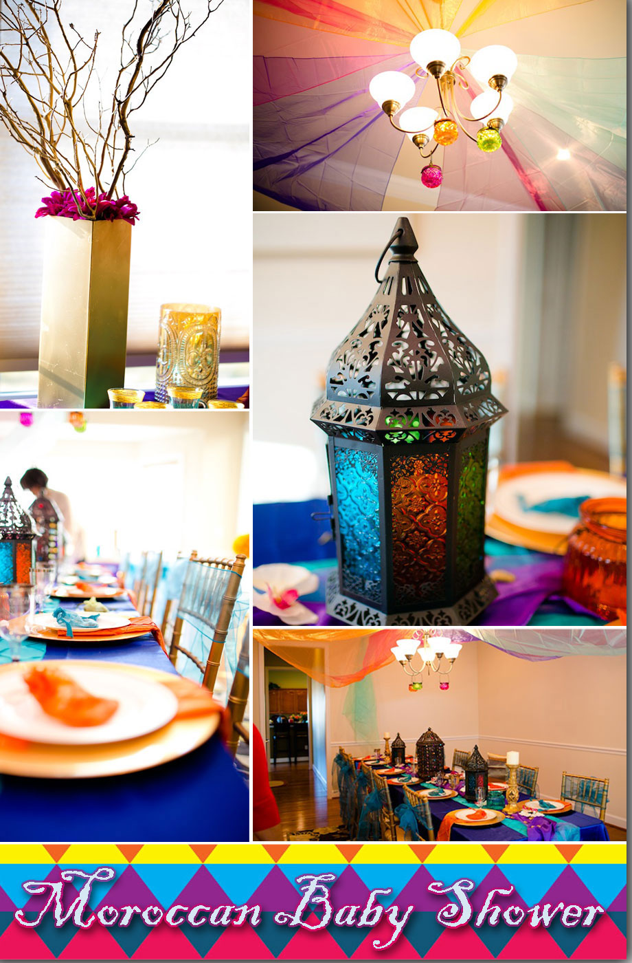 Moroccan baby shower decorations