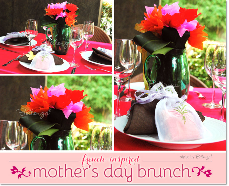 Mother's Day brunch decoration ideas with a French inspiration