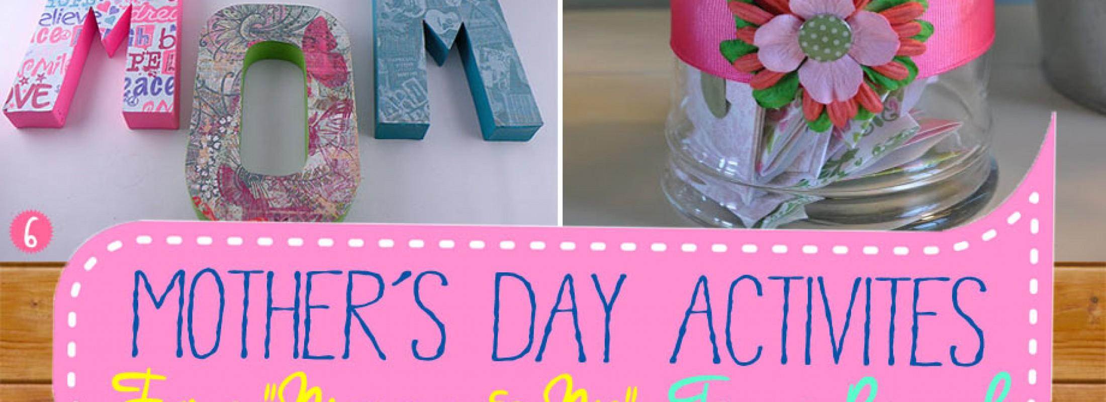 Mothers day tea activities