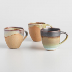 7 - Organic Stoneware Mugs