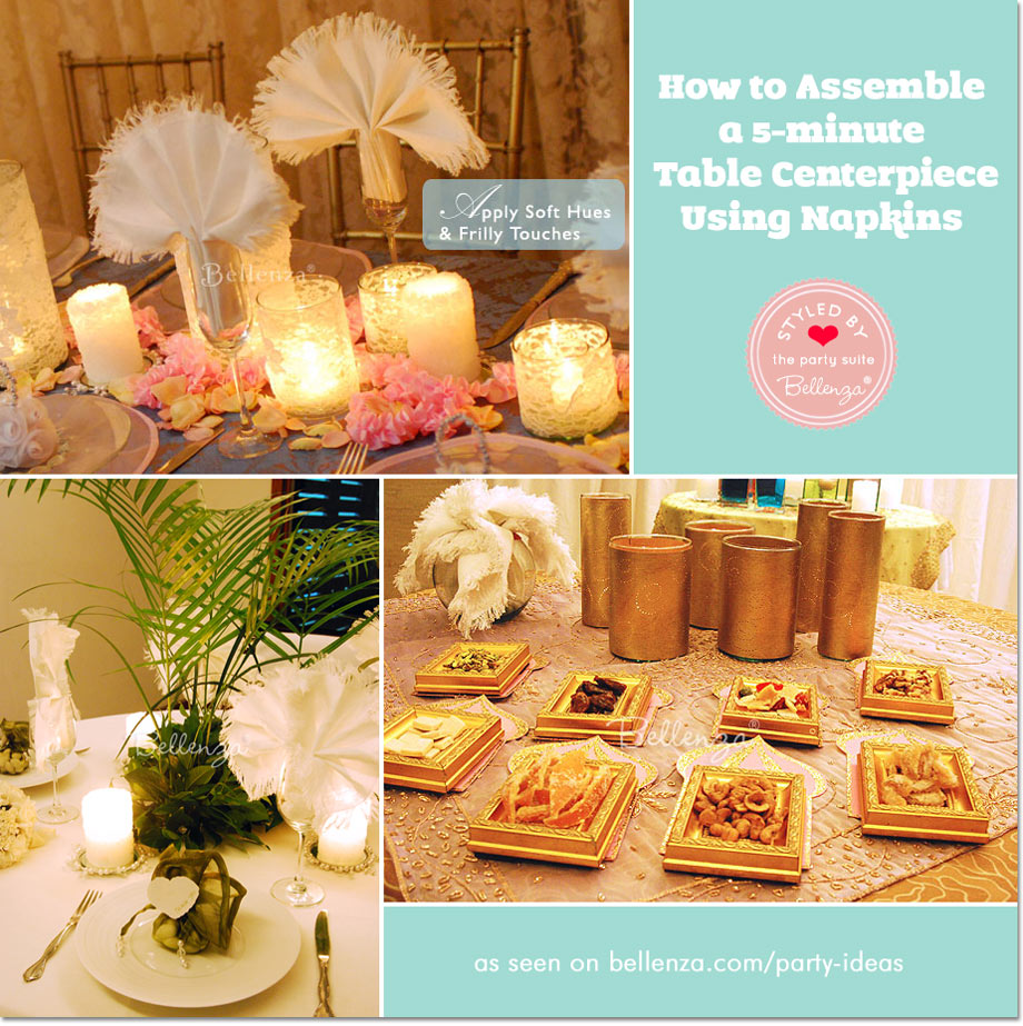 How to Assemble a 5-minute Table Centerpiece Using Napkins
