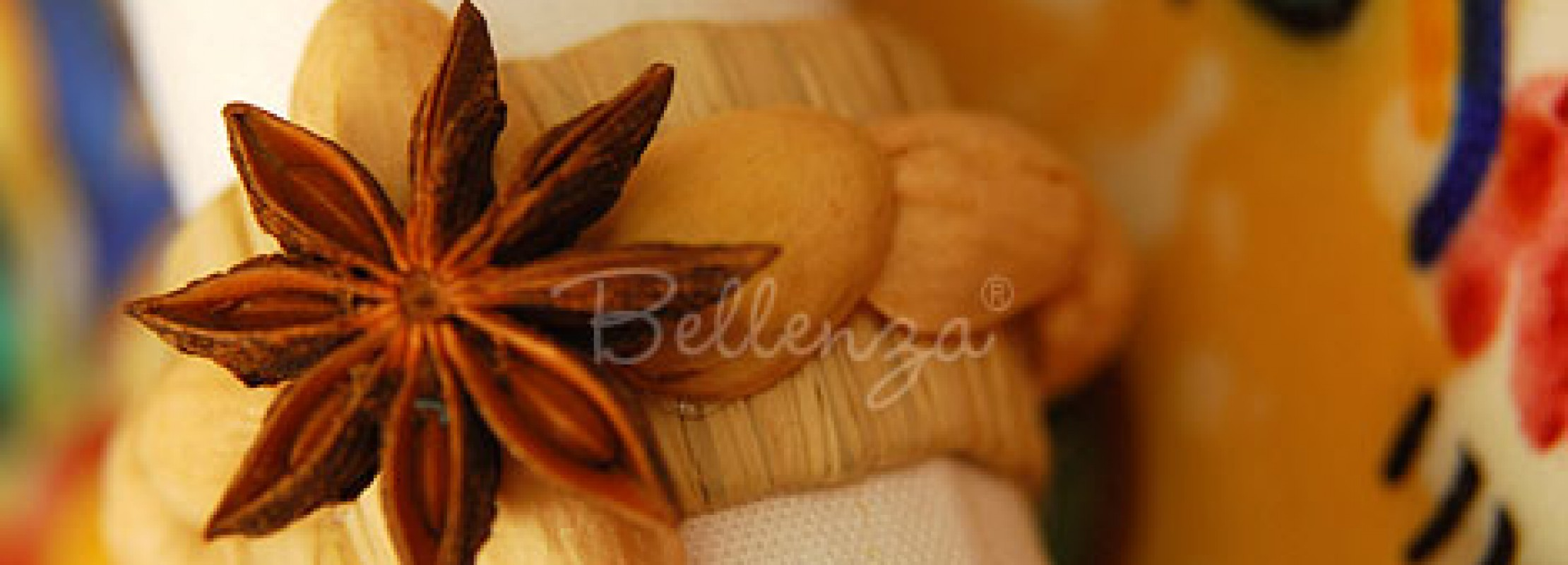 Raffia napkin ring star by Bellenza