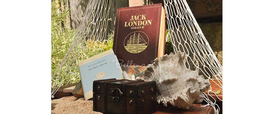 Nautical book-themed centerpieces