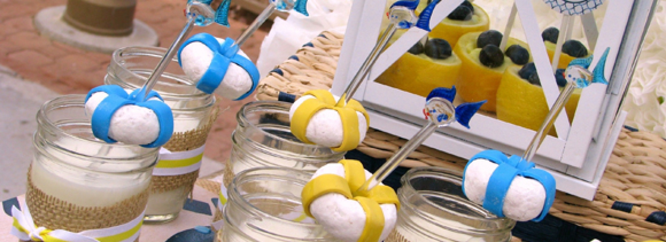nautical baby shower in blue and yellow