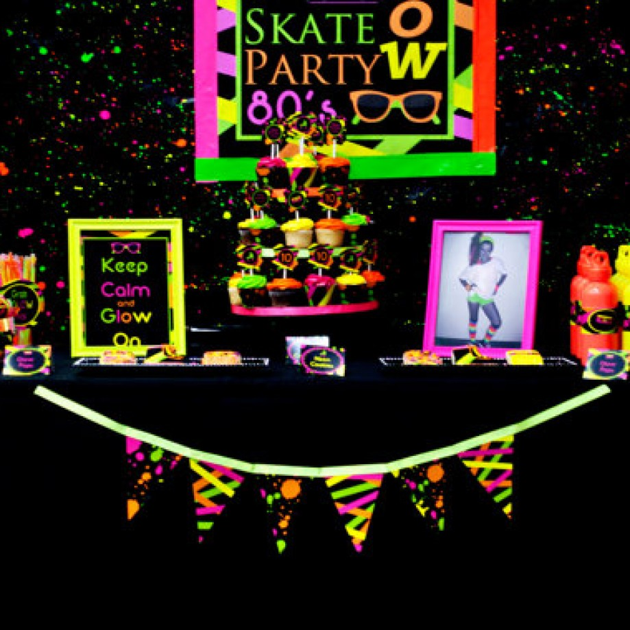 neon party printables package by Lillian Hope Designs on etsy