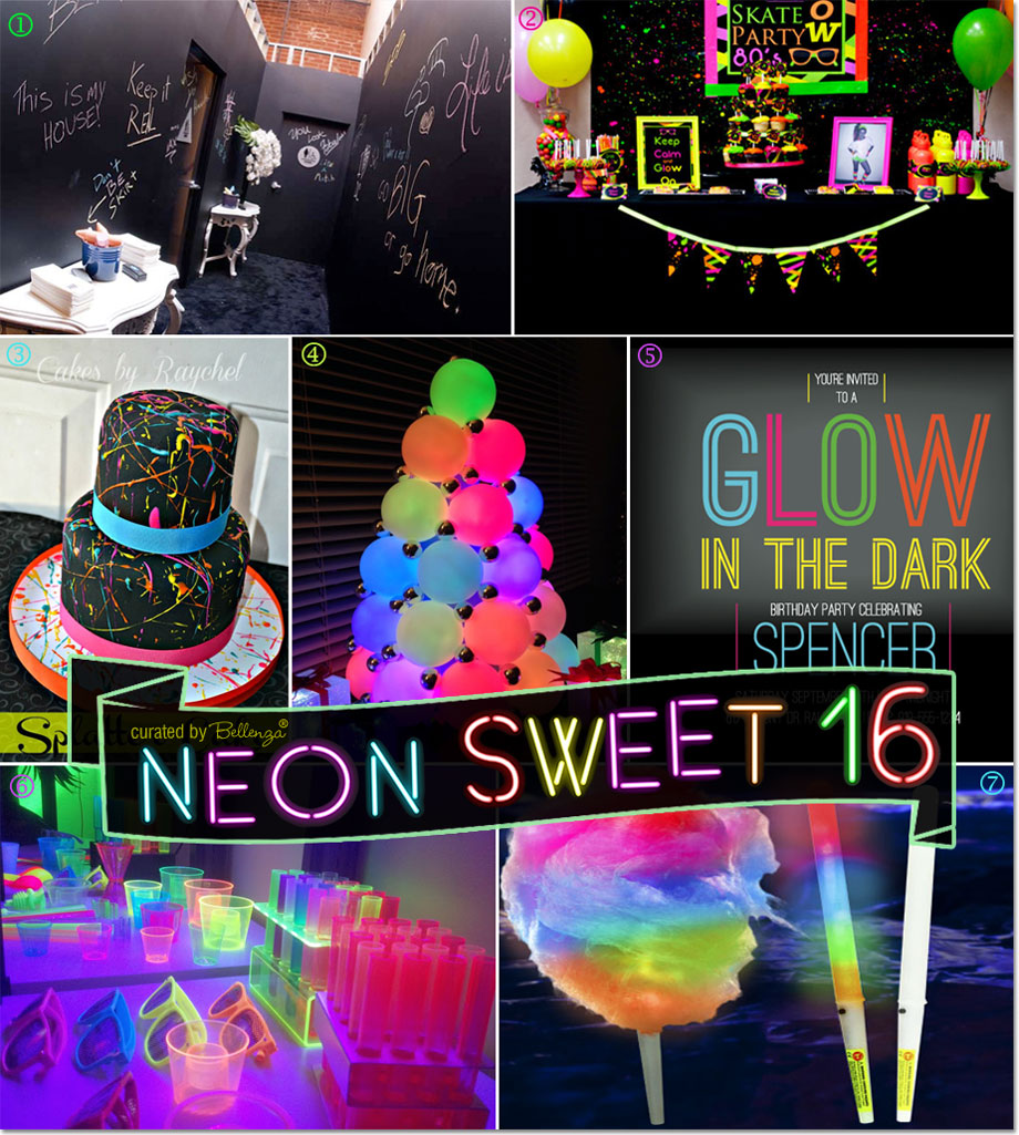 Neon Glow in the Dark Party Sweet 16