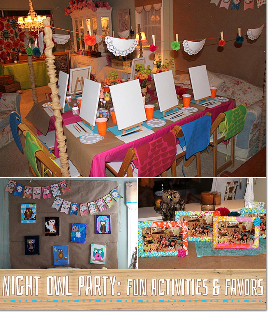 night owl slumber party ideas a featured party by party wishes