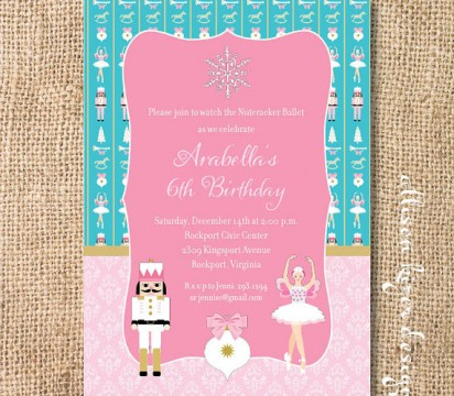 Ballerina invitation. Photo credit: Alison Kizer Designs