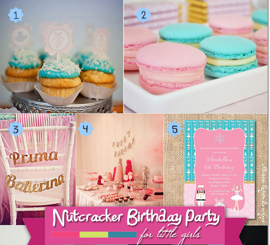 Pink and aqua nutcracker birthday theme