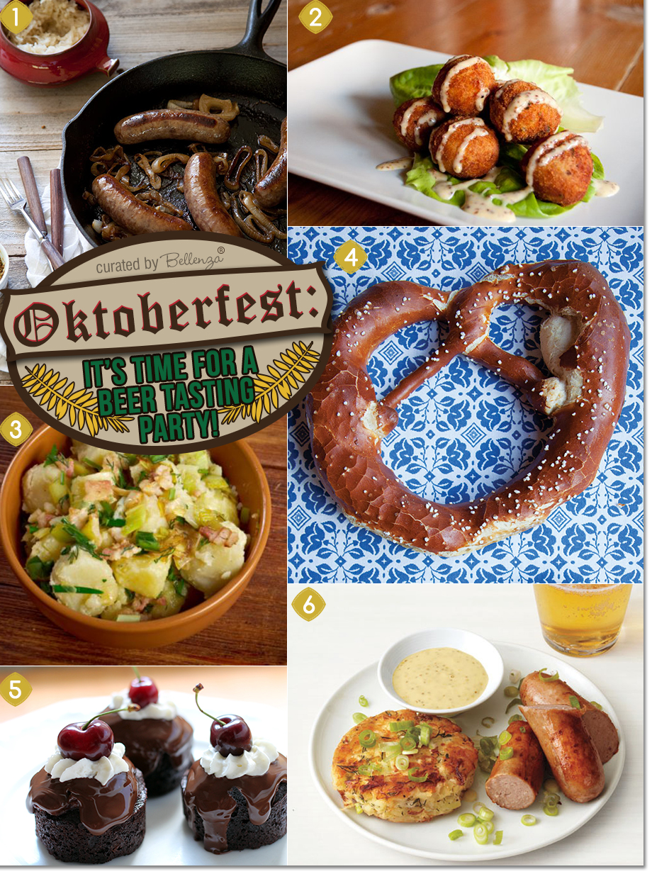 Oktoberfest food ideas from bratwurst to sauerkraut fritters to black forest cake