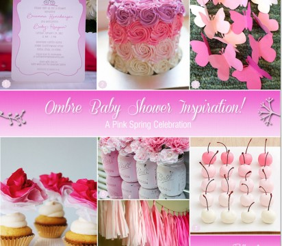 Pink Ombre Baby Shower Ideas and Inspiration!