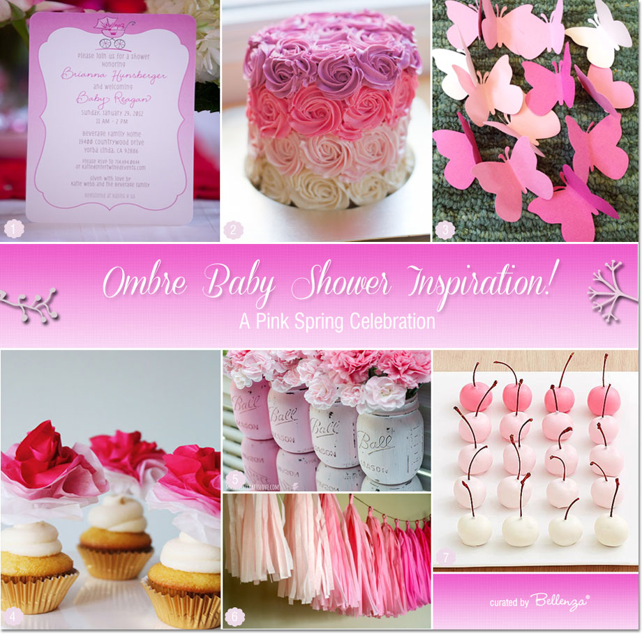 Pink Ombre Baby Shower Ideas